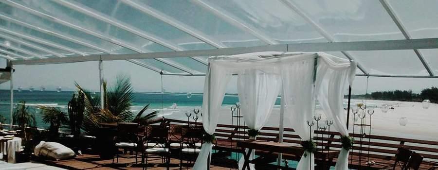 Cobertura e passarela. - Hotel Le Relais do Marambaia