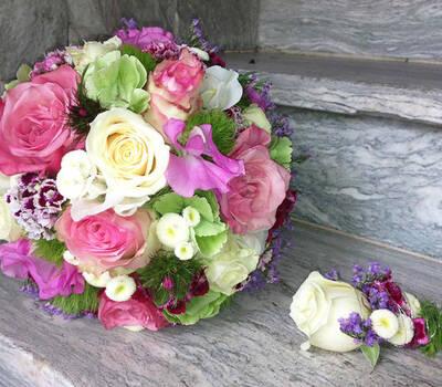 Beispiel: Hochzeitsfloristik, Foto: Blumen Bachmann.