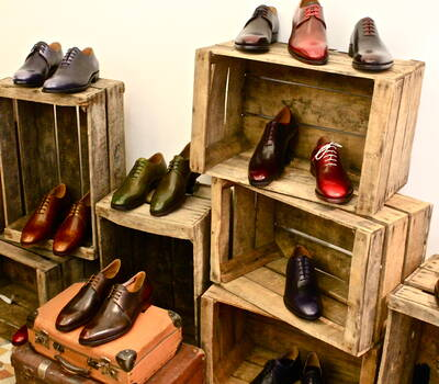La collection Shoe Up au showroom