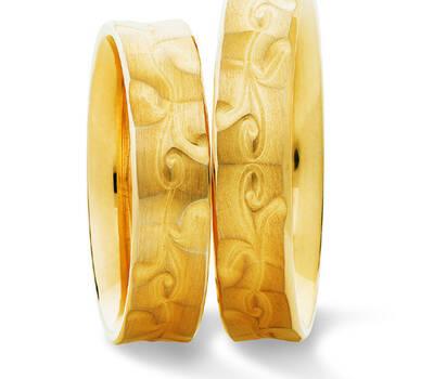 Beispiel: Trauringe - Gold, Foto: Juwelier Stöckle.