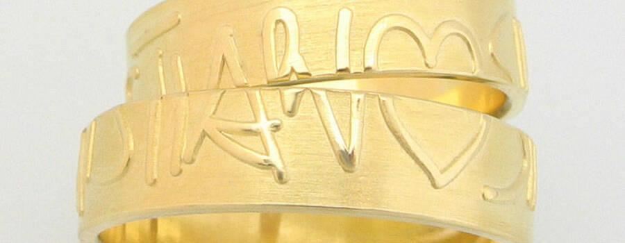 Beispiel: Trau- und Partnerringe, Foto: Gold Pavillon GmbH.