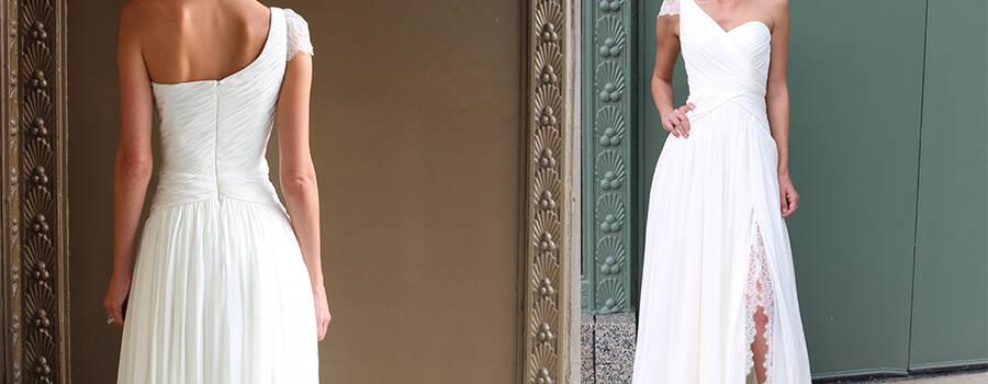 Robe de mariée en exclusivité sur le site de fabrication de robes de mariées sur mesure www.mariageenrose.fr.