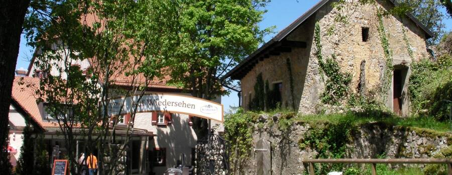 Beispiel: Aussenansicht, Foto: Restaurant Touché - Burg Hartenstein.