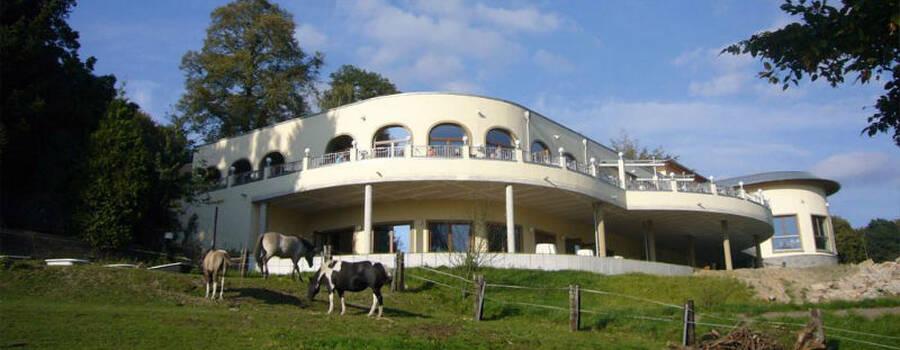Beispiel: Außenansicht, Foto: Borgböhmer's Waldesruh.
