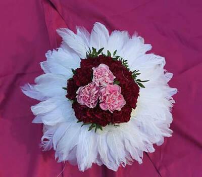 Beispiel: Brautstrauß, Foto: Blumen Hildebrand.