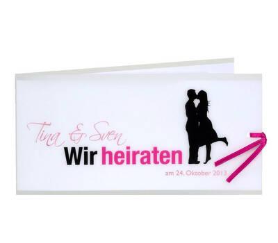Beispiel: Drucksachen zu Ihrer Hochzeit, Foto: Hemmersbach Druck.