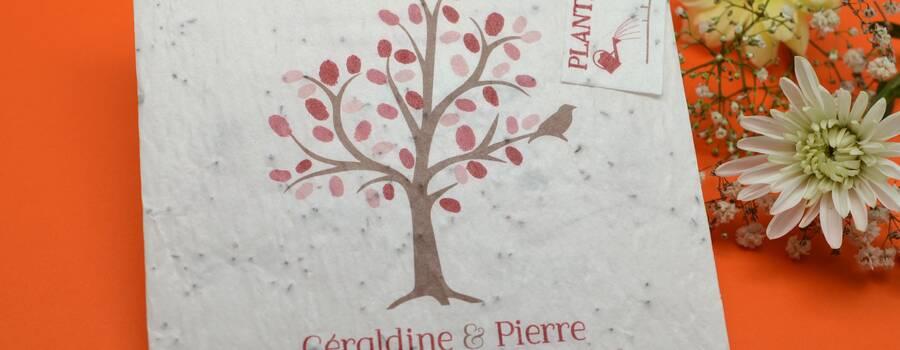 Faire-part Ecolo Bio L'Atelier d'Elsa Le Véritable Faire-part Sur Mesure
