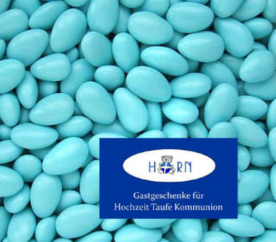 Beispiel: Hochzeitsmandeln blau, Foto: Horn Hochzeitsmandeln.