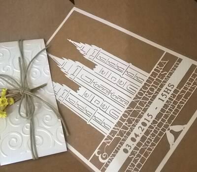 Personalize Artes e Convites  Inovando sempre! Convite TOTALMENTE recortado.