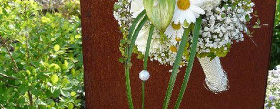 Beispiel: Brautstrauß, Foto: Blumenwerkstatt - Dorothee Meyer.