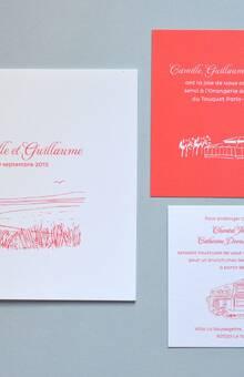 Faire-part classique Illustration L'Atelier d'Elsa Le Véritable Faire-part Sur Mesure