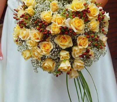 Beispiel: Brautstrauß, Foto: AFLORA – Blumenfachgeschäft.