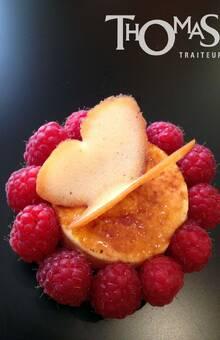 Dessert à l'assiette :  Papille