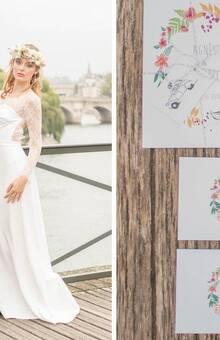Faire-part Boheme chic L'Atelier d'Elsa Le Véritable Faire-part Sur Mesure