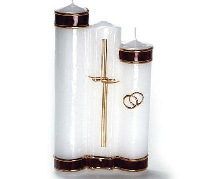 Beispiel: Traditionelle Hochzeitskerzen, Foto: Kerzenwelt.