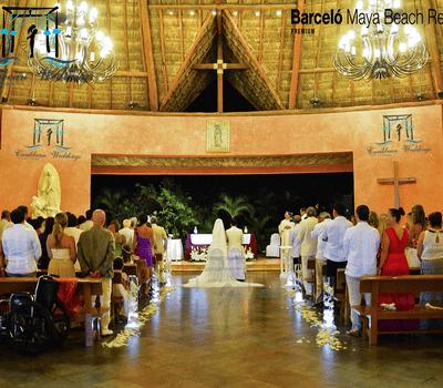 Hotel Barceló Riviera Maya. Capilla certificada de Nuestra Señora de Guadalupe. EL MEJOR DÍA DE TU VIDA !!  Más información: Tel +52 999 953 64 29 Cel +52 999 738 66 05 (Whatsapp) Mail: garjona@caribbean-weddings.com.mx