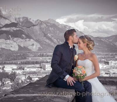 Fotoshooting mir dem Brautpaar