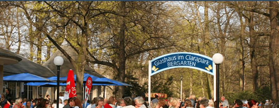 Beispiel: Biergarten, Foto: Glashaus im Clarapark.