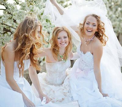 Beispiel: Zauberhafte Brautmode, Foto: Zauberbraut.