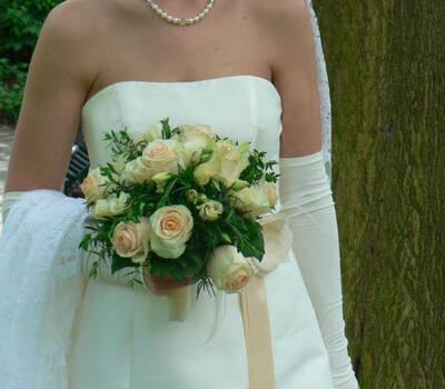 Beispiel: Brautstrauss, Foto: Margret Pleß Blumendekorationen.