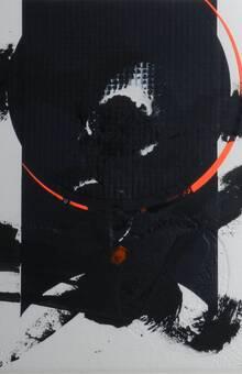 Obra original sobre papel realizada en técnica mixta de collage-troquel 56x56 cm.