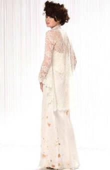 Beaumenay Joannet Paris -accessoire robe de mariée cape dentelle