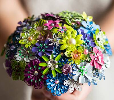 enamel brooch bouquet