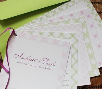 Beispiel: Individuelle Hochzeitskarten, Foto: Die Kartenfrau.