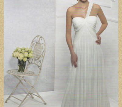Beispiel: Brautkleid, Foto: Hochzeitsausstatter Bachmann.