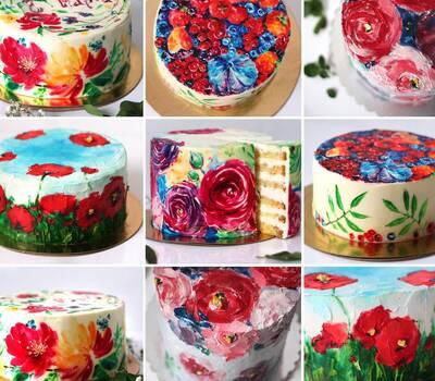 Авторская роспись торта