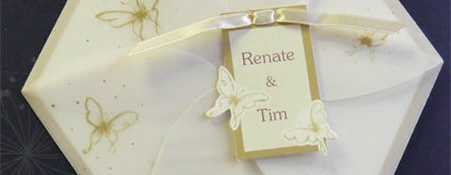 Beispiel: Hochzeitseinladung Imagine 2013, Foto: Druckerei Leue.