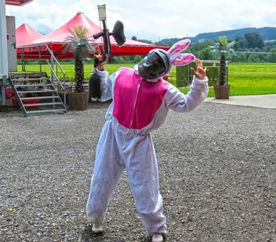 Beispiel: Junggesellen-Köstum, Foto: Paintballfarm.