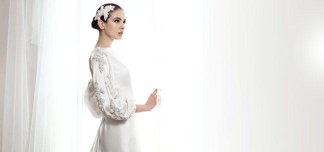 Vestidos de noiva de manga longa 2014. Foto: Basaldua