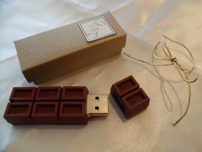 USB en forma de chocolate