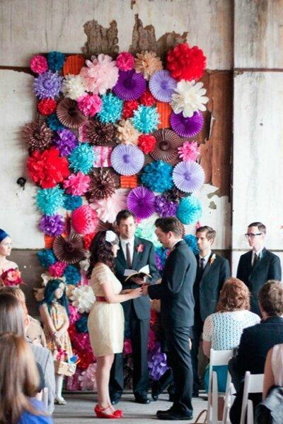 Detalhes de decoração de casamento DIY. Crédito: Arrow & Apple