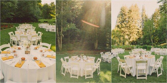 Jolies serviettes pour tables de mariage - Photo: Sweet Little Photographs