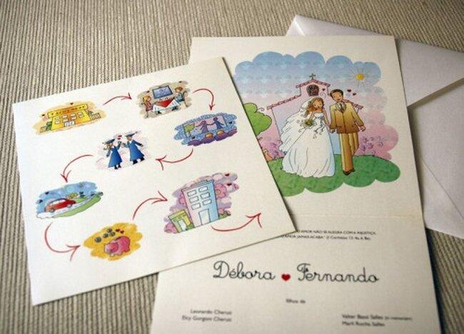 Convites delicados e coloridos. Foto: Débora Cheruti