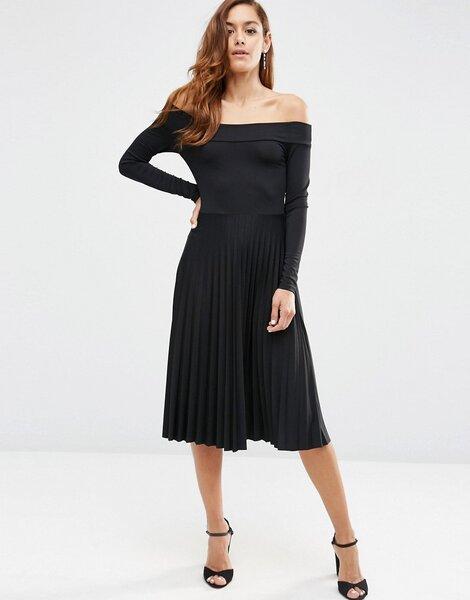 festliche kleider in schwarz 2017 als hochzeitsgast stilvoll feiern. Black Bedroom Furniture Sets. Home Design Ideas