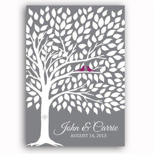Livros de assinaturas para seu casamento: uma eterna recordação. Foto: Etsy