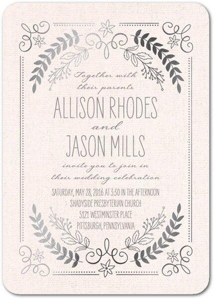 Invitaciones de boda en color rosa