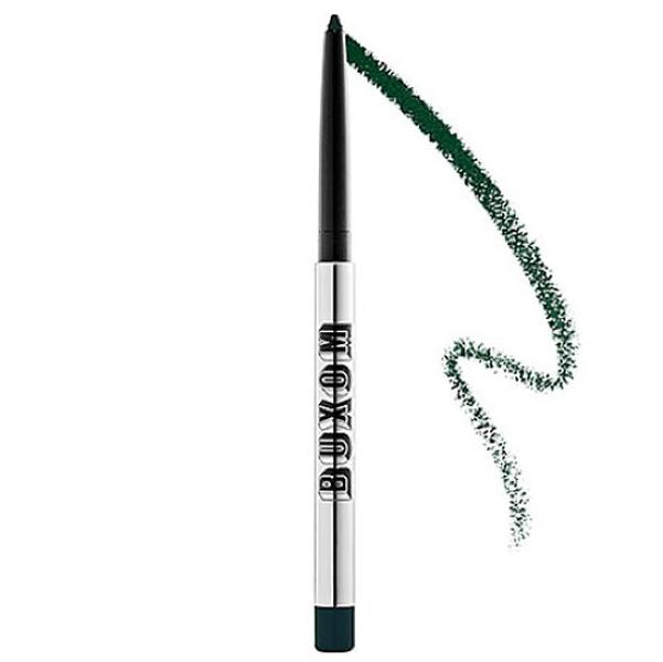 Delineador en color verde esmeralda de la marca Buxom para el maquillaje de novia