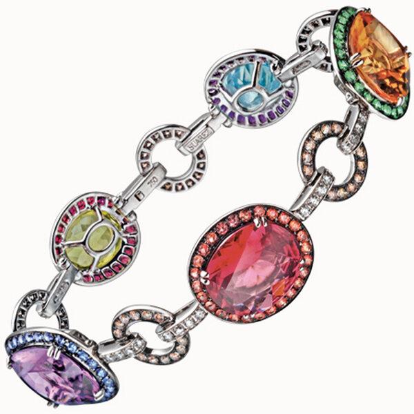 Bracelet en pierres précieuses et brillants