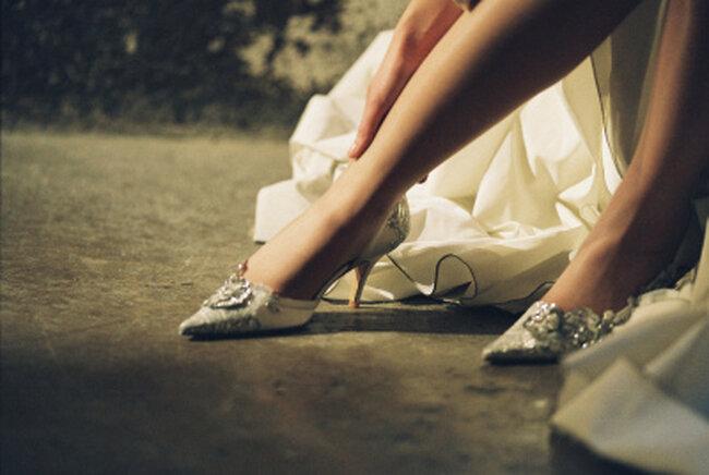 Chaussures de mariée glamours : Mademoiselle Rose