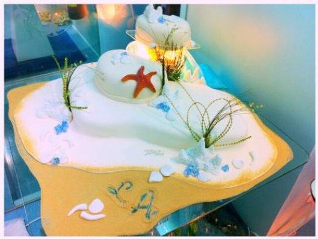 Bolo de casamento criado por Teresita Chuecos. Foto: Teresita Chuecos
