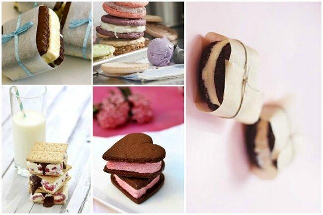 Sandwiches de helado.