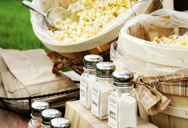 Popcorn f r eine hochzeit im thema kino - Dekoration kino ...
