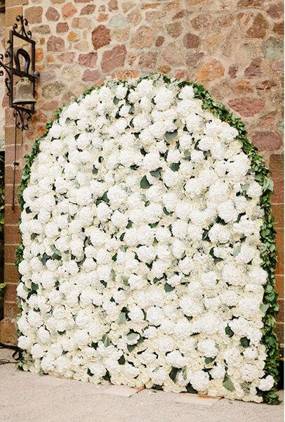 Jardín vertical para boda.