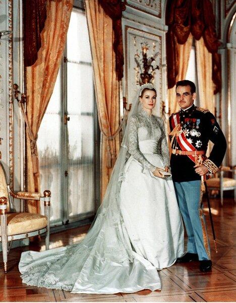 Grace Kelly e il principe Rainieri di Monaco.