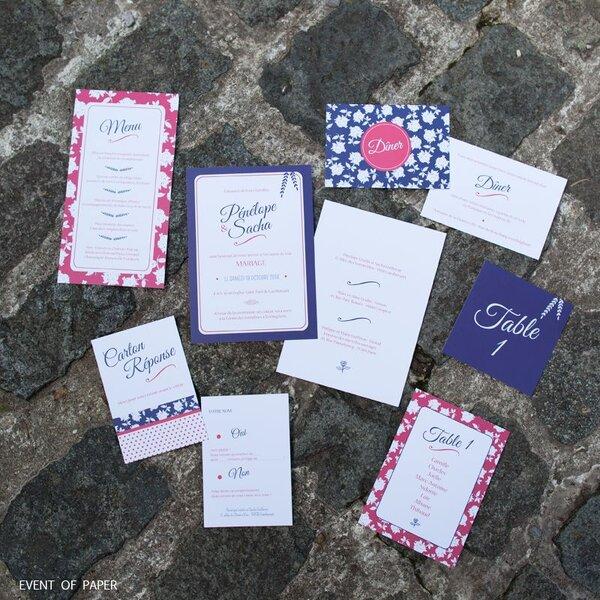 Invitations de mariage d'automne