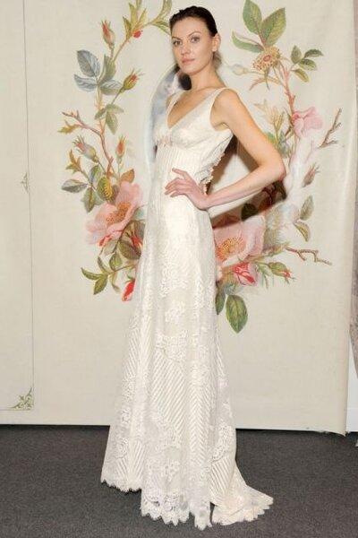 Suknia ślubna z kolekcji Claire Pettibone na 2014 rok